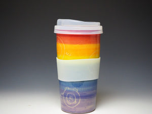 Piggery Travel Mug - Rainbow #3