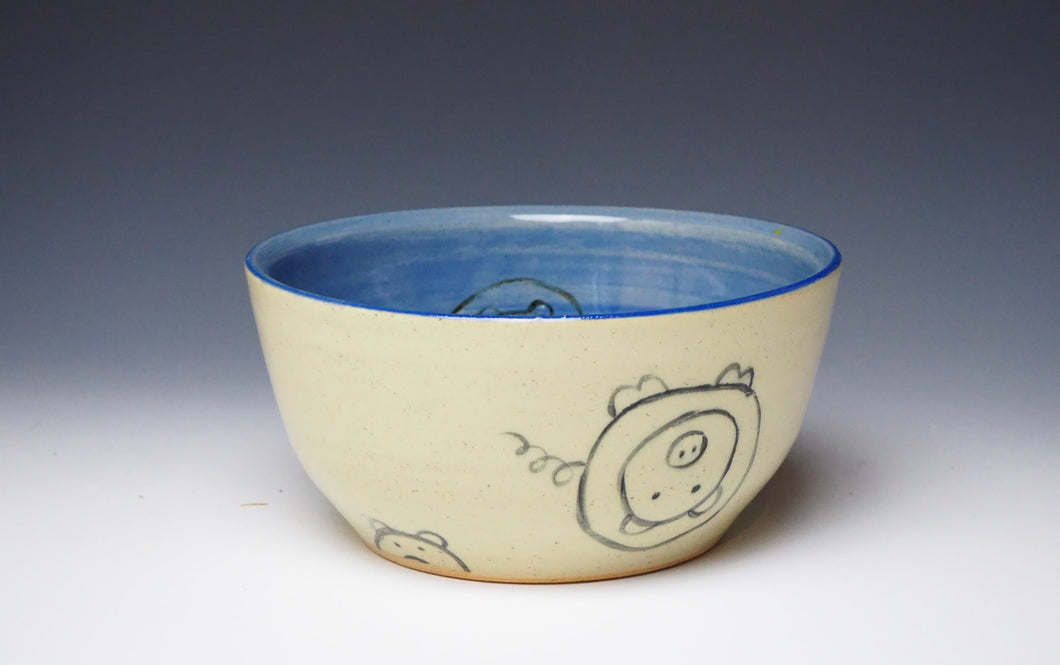 PIGGERY- Cereal bowl in light Blue #2