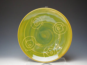 Piggery Sandwich Plate- Lime Green