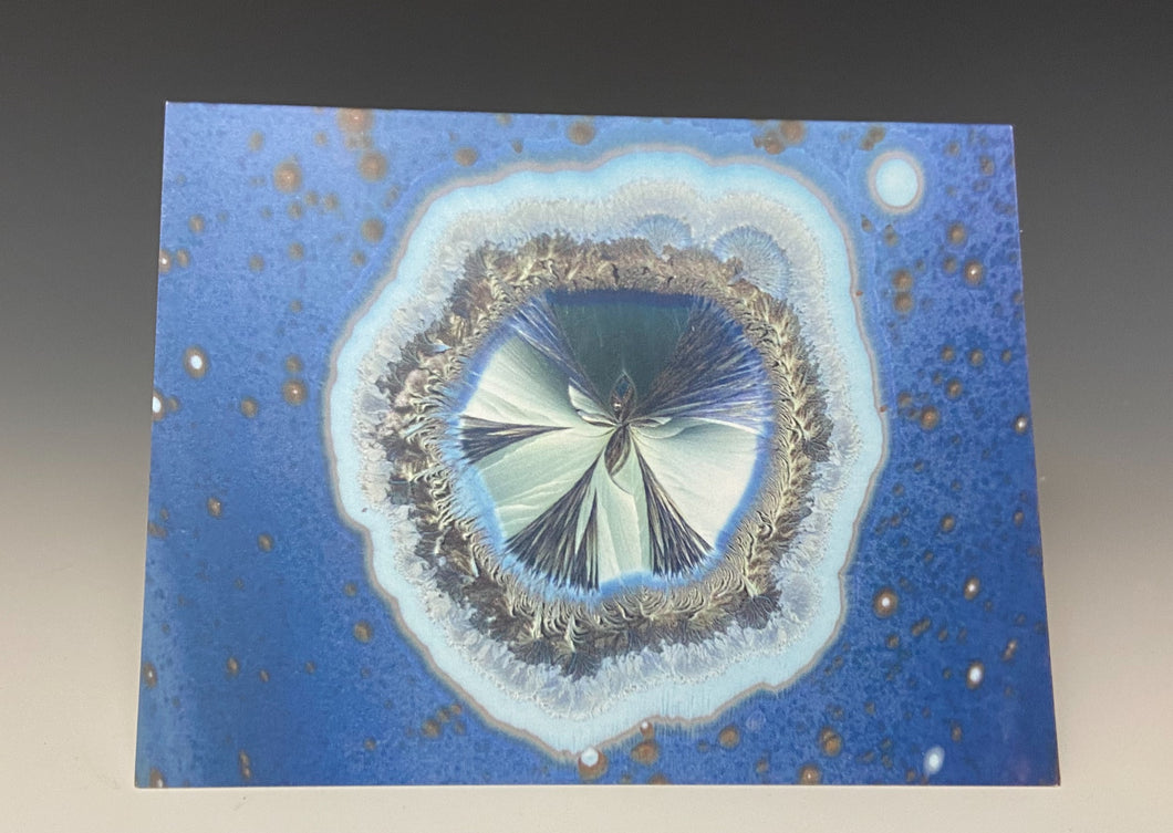 Crystalline Greeting Card- 'Blue Galaxy'