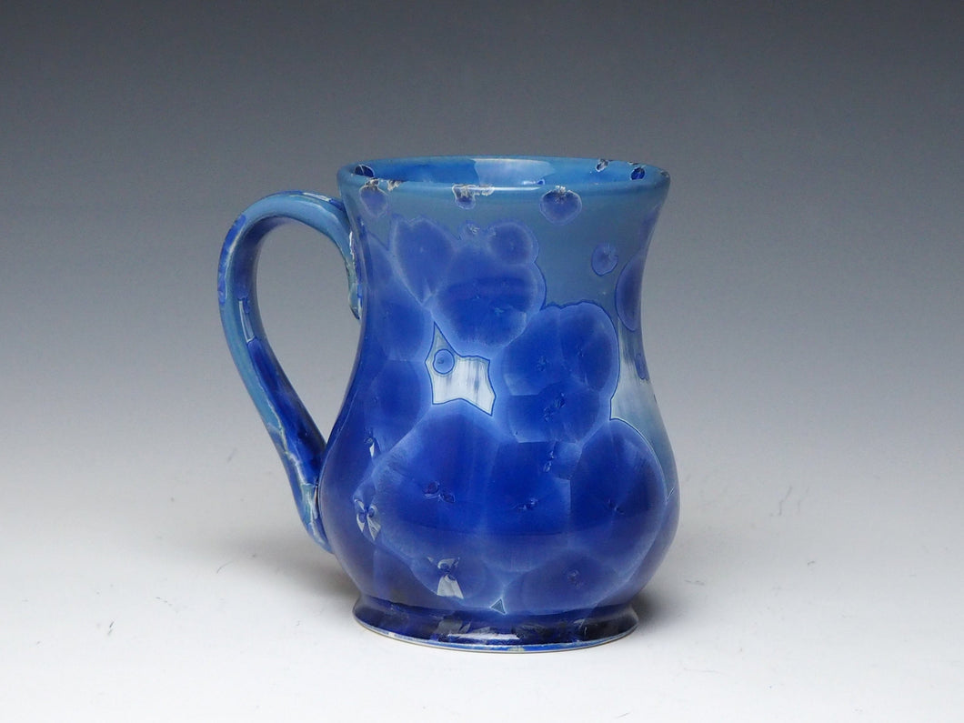 Royal Blue Crystalline Glazed Mug #28