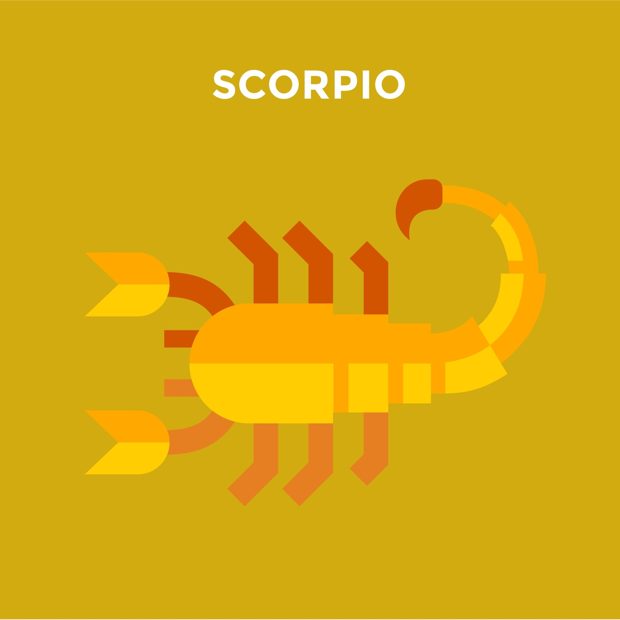 animation of scorpion with caption Scorpio