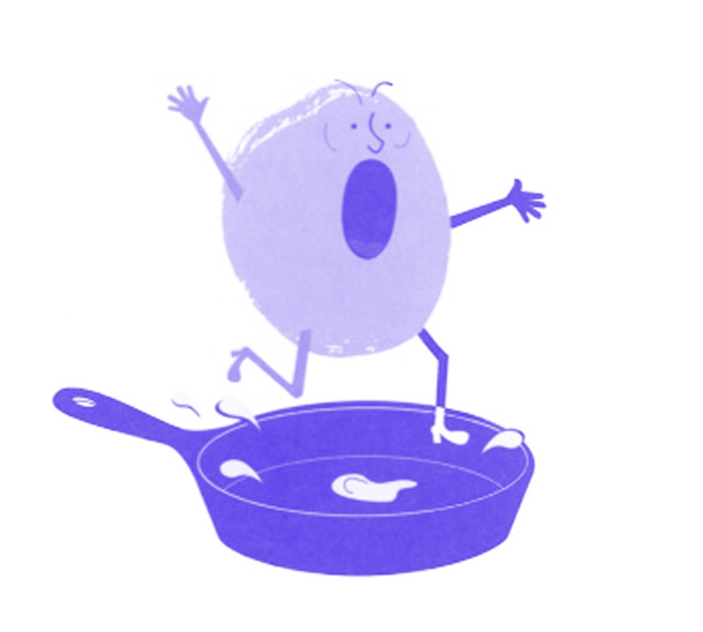 animation of a screaming potato in pan