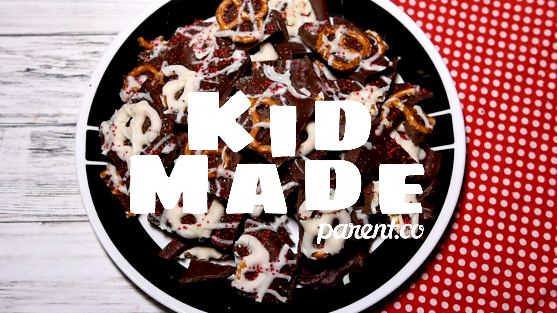 Chocolate Pretzel Bark in a pan