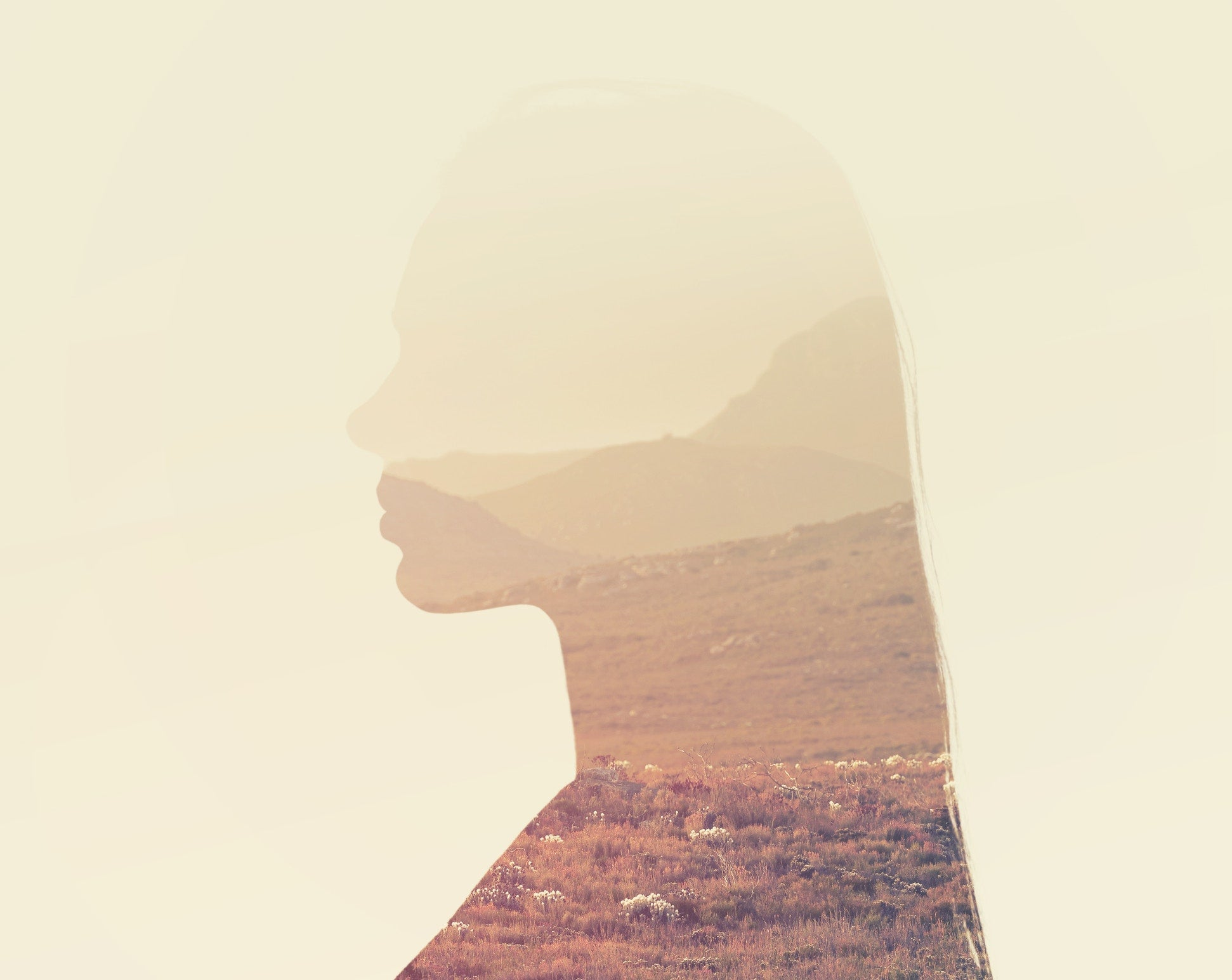 Silhouette of woman's head