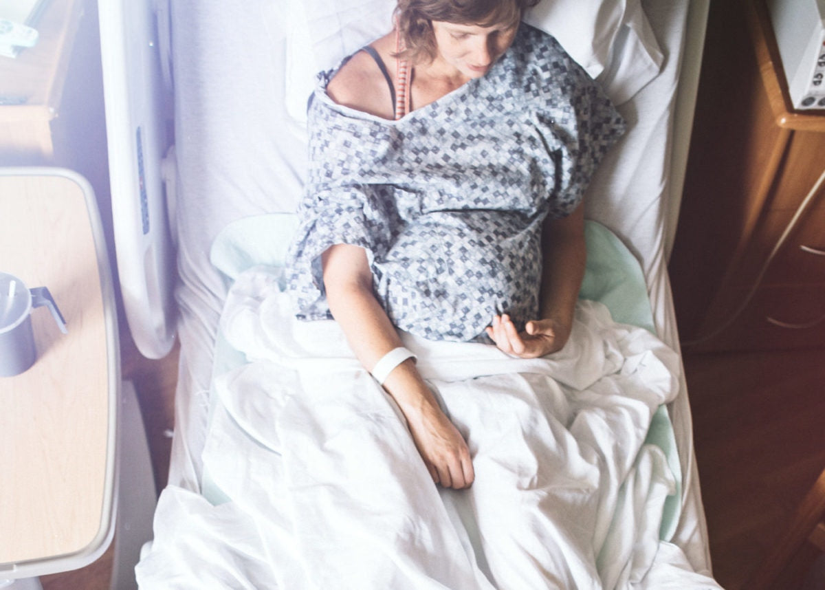 Pregnant woman resting in a hospital