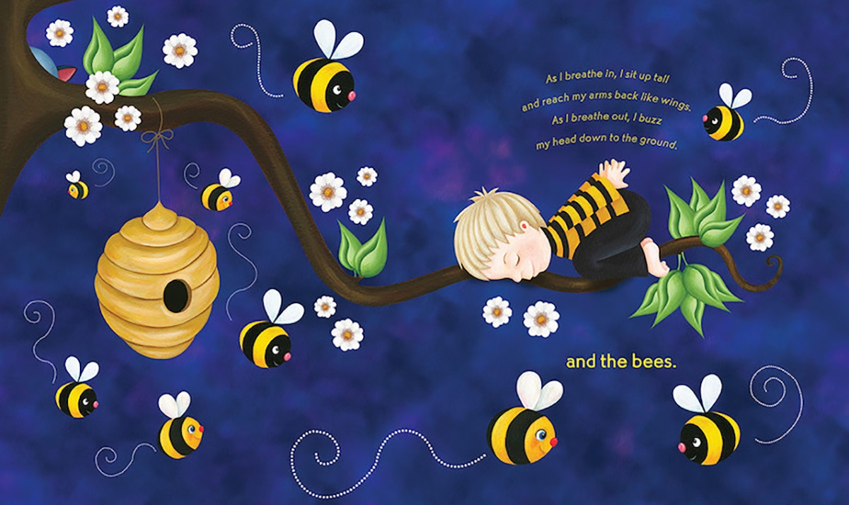 book cover with child and bees