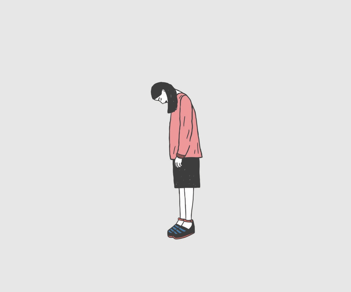 Cartoon of depressed lady