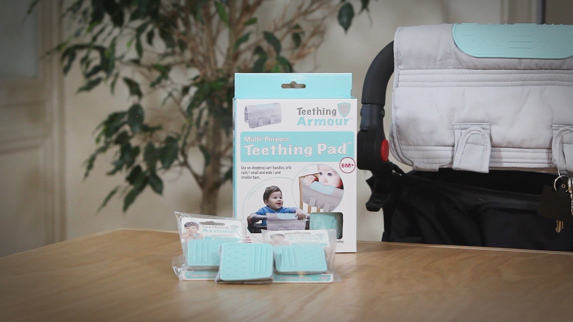 Comercial of teething pad