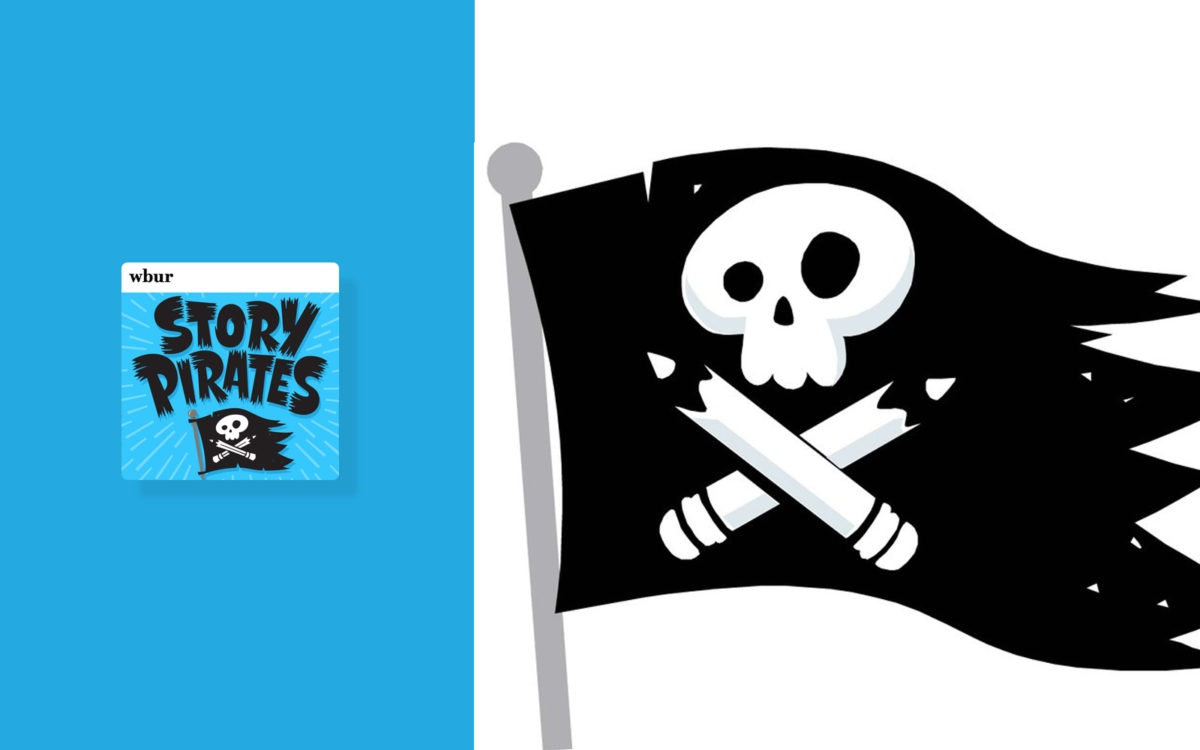 Story Pirates : Flag of skull and pencils describing danger