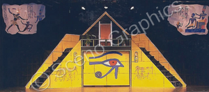 "Pyramid Museum ""Aida"" musical set, ScenoGraphics design. Rent Design Pak© to build yourself! DIY Sets, guide to building, high school, college, community theater."