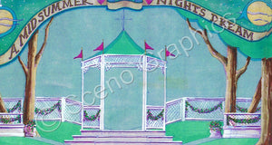 "Gazebo Set Shakespeare's ""A Midsummer Night's Dream"", ScenoGraphics design. Rent Design Pak© to build yourself! DIY Sets, guide to building, high school, college, community theater."