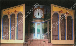 Cinderella Design Pak© Musical Set design for Cinderella. Buy set designs. The prince's castle set design. At ScenoGraphics you can lease the technical blueprints to build your own sets for over 150 shows & musicals.