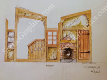Load image into Gallery viewer, Cinderella Design Pak© - Set design for Cinderella. Buy set designs. In My Own Little Corner set. Cinderella's house.