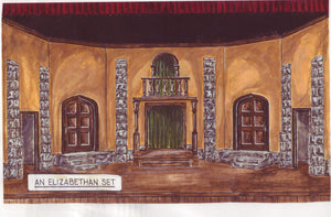 Globe Theatre set designs- build it yourself with Shakespeare's Globe Theater Design Pak©. Set designs for As You Like It, Romeo and Juliet, Midsummer's Night Dream, Henry VIII, Henry V, Henry VI, Love's Labour's Lost, The Merry Wives of Windsor, The Comedy of Errors, The Winter's Tale, Antony and Cleopatra, Julius Caesar, and many more!