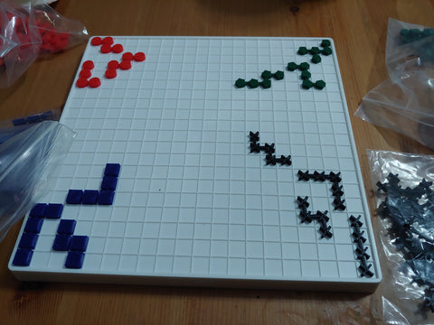 Image of the board with the replacement pieces