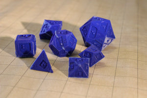 Polyhedral Braille Dice Set
