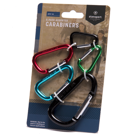 Stansport - 5 Pack Carabiners
