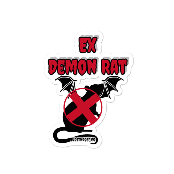 Punk Ex Demon Rat Sticker