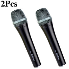 Load image into Gallery viewer, 2Pcs e 945 Professional Handheld Supercardioid Vocal Dynamic Microphone Karaoke System For e945 DJ Mixer Singing Moving coil Mic