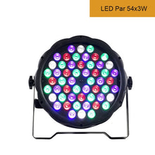 Load image into Gallery viewer, 54x3W LED Par Light RGBW Disco Wash Light Equipment 8 Channels DMX 512 LED Uplights Strobe Stage Lighting Effect Light 12x3W