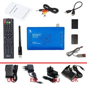 Koqit k1 Mini Receptor de satelite brasil Decoder TV Box Satellite Receiver iptv DVB-S2 Tv tuner Scam /Newcam Wifi Youtube Scam