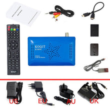 Load image into Gallery viewer, Koqit k1 Mini Receptor de satelite brasil Decoder TV Box Satellite Receiver iptv DVB-S2 Tv tuner Scam /Newcam Wifi Youtube Scam