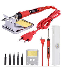 Load image into Gallery viewer, JCD 220V 80W LCD Electric Soldering iron 908S Adjustable Temperature Solder iron With quality soldering Iron Tips and kits