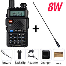Load image into Gallery viewer, Powerful Baofeng UV-5R 8W Walkie Talkie VHF UHF Transceiver UV 5R Amateur Ham CB Radio Station 8Watts 10km Hunting Transmitter