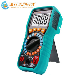 Mileseey NCV Digital Multimeter Auto Ranging AC/DC voltage meter Flash light Back light Large Screen