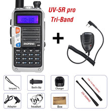 Load image into Gallery viewer, 2020 Baofeng UV-5R Pro Walkie Talkie Tri-Band Two Way Radio 8W High Power Portable CB Ham Radio HF FM Transceiver Upgrade UV 5R