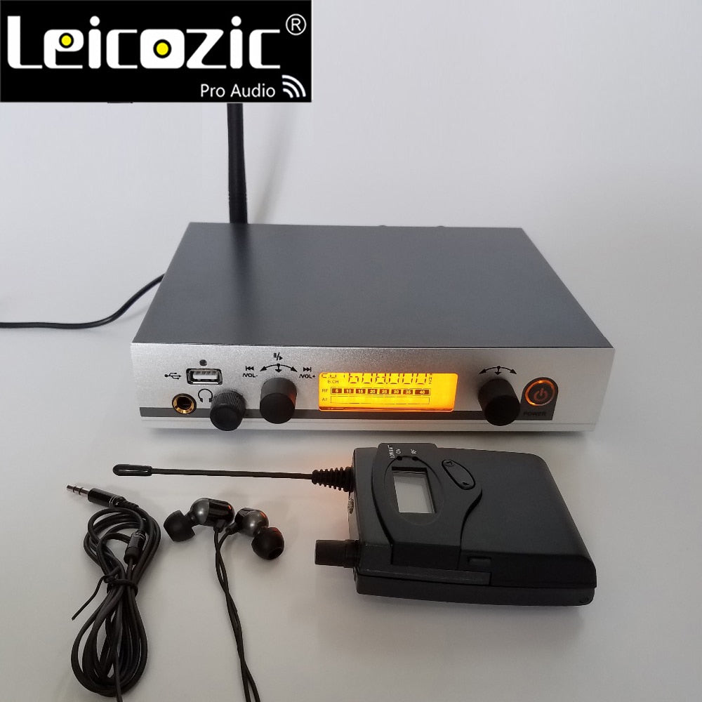 Leicozic New Wireless monitor system EW G3 1 Receiver 1 Transmitter IEM 300G3 monitoring system musical instruments dj equipment