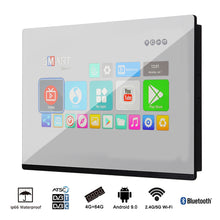 "Load image into Gallery viewer, Souria 19"" Bathroom Waterproof Smart Mirror Hidden LED TV Magic Glass Built in Wall Television SPA"
