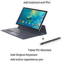 "Load image into Gallery viewer, Tablet Laptop 11.6 "" Inch android tablet 2 In 1 10 cores gaming Film Music Tablets gps wifi 4G sim card call phone With Keyboard"