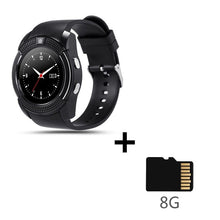 Load image into Gallery viewer, Sport Men Smart Watch v8 sim card android camera rounded Answer Call Dial Call Smartwatch Heart Rate Fitness Tracker