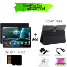 Load image into Gallery viewer, New Original 10 inch Tablet Pc Android 7.0 Google Market 3G Phone Call Dual SIM Cards BDF Brand WiFi GPS Bluetooth 10.1 Tablets