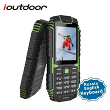 Load image into Gallery viewer, ioutdoor T1 2G Feature Mobile Phone Rugged IP68 Waterproof Phone FM GSM SIM Card Led Flashlight 2MP Russian Keyboard Cellphone