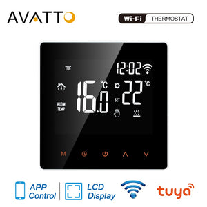 AVATTO Tuya WiFi Smart Thermostat, Electric floor Heating Water/Gas Boiler Temperature Remote Controller for Google Home, Alexa