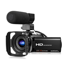 Load image into Gallery viewer, Video Camera Camcorder with Microphone FHD 1080P 30FPS 24MP Vlogging YouTube Cameras 16X Digital Zoom Camcorder Webcam Recorder