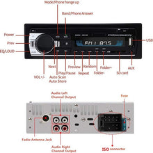 Load image into Gallery viewer, Bluetooth Autoradio Car Stereo Radio FM Aux Input Receiver SD USB JSD-520 12V In-dash 1 din Car MP3 Multimedia Player