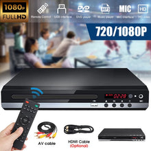Load image into Gallery viewer, Multi System 720P/1080P Full HD DVD Player USB DVD Player Multimedia Digital DVD TV Disc Player Support HDMI CD RW SVCD VCD MP3