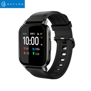 Haylou Solar Mini Haylou LS02 Smart Watch,IP68 Waterproof ,12 Sport Models,Bluetooth 5.0 Sport Heart Rate Monito,English Version