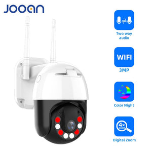3MP PTZ WIFI IP Camera Outdoor 4X Digital Zoom Night Full Color Wireless H.265 P2P Security CCTV Camera Two Way Speak Audio