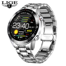 Load image into Gallery viewer, LIGE 2020 fashion Full circle touch screen Mens Smart Watches  IP68 Waterproof Sports Fitness Watch Luxury Smart Watch for men