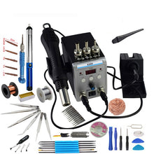 Load image into Gallery viewer, Lead-free SMD Soldering Station LED Digital Solder Iron Hot Air GUN Blowser Eruntop 8586