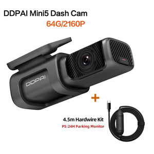 DDPAI Dash Cam Mini 5 UHD DVR Android Car Camera 4K Build-in Wifi GPS 24H Parking 2160P Auto Drive Vehicle Video Recroder Mini5