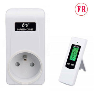 Nashone Thermostat Control LCD temperature controller RF wireless thermostat room floor heating 230V Prise Thermostat Chauffage