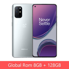 Load image into Gallery viewer, Global Rom OnePlus 8T 8 T 8GB 128GB Snapdragon 865 5G Smartphone 120Hz AMOLED Fluid Screen 48MP Quad Cams 4500mAh 65W Warp