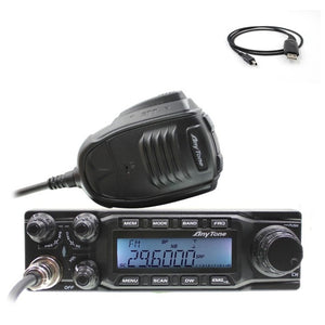 large LCD displays Anytone AT-6666 AM FM USB LSB PW CW 10 meter 28.000-29.700MHz 40 channels CB radio Mobile Transceiver AT6666