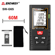 Load image into Gallery viewer, Sndway Laser Distance Meter Laser Rangefinder electronic Roulette Laser Meter 50m 70m 100m 120m Lazer Tape Measure Range Finder